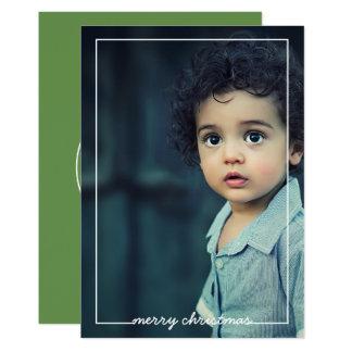 Recouvrement de carte photo de Joyeux Noël, choix Carton D'invitation 12,7 Cm X 17,78 Cm