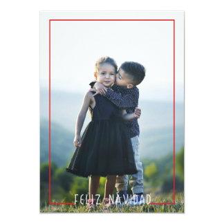 Recouvrement moderne de carte photo de vacances de carton d'invitation  12,7 cm x 17,78 cm
