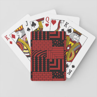 Rectangles modelés jeu de cartes