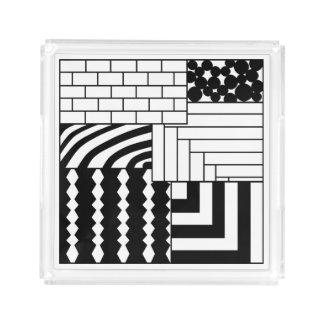 Rectangles modelés plateau en acrylique