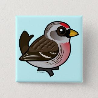 Redpoll commun badge carré 5 cm