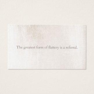 Référence de marbre blanche simple de fidélité de cartes de visite