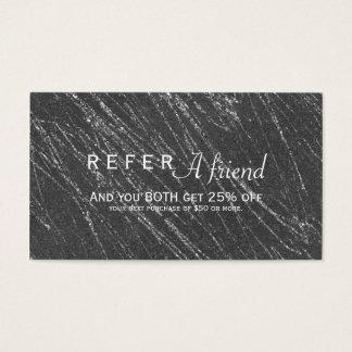 Référence de marbre moderne grise et argentée de cartes de visite