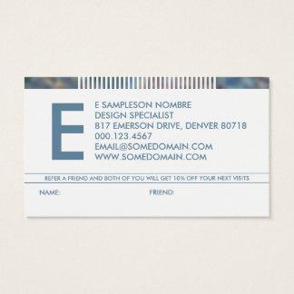 référence harassée de monogramme cartes de visite