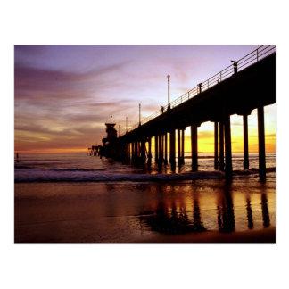 Réflexions de marée basse au crépuscule, carte postale