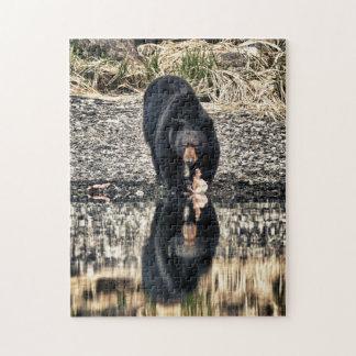 Réflexions d'ours noir puzzle