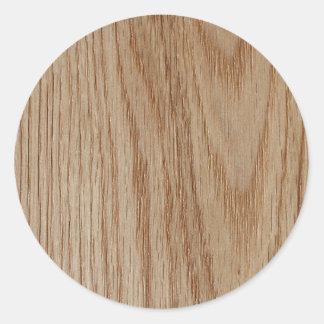 Regard de grain en bois de chêne sticker rond
