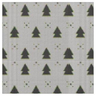 Regard de Knit d'arbre de Noël Tissu