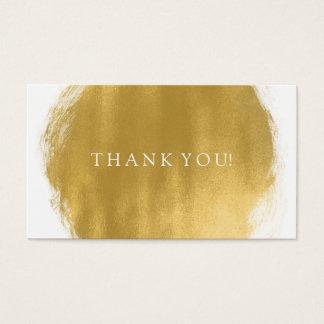 Regard de peinture d'or d'insertion de Merci Cartes De Visite