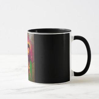 Regard d'huile d'antiquité de tasse de Keanu Jésus