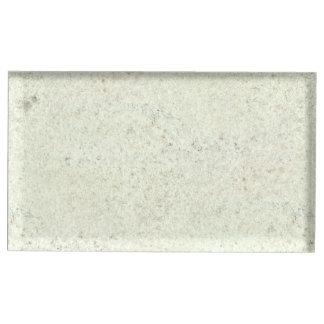 Regard du bois de grain de liège blanc de brume porte-numéro de table