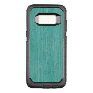 Regard du bois en bambou bleu vert de grain coque samsung galaxy s8 par OtterBox commuter