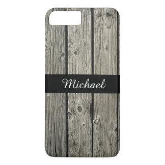 Regard du bois personnalisé de vieille grange coque iPhone 7 plus