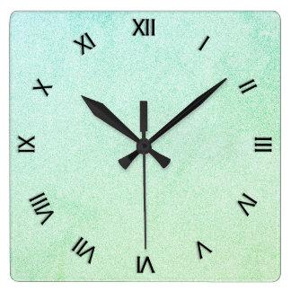 Regard en pastel de parties scintillantes d'Ombre Horloge Carrée