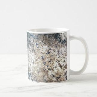 Regard en pierre abstrait moderne mug blanc