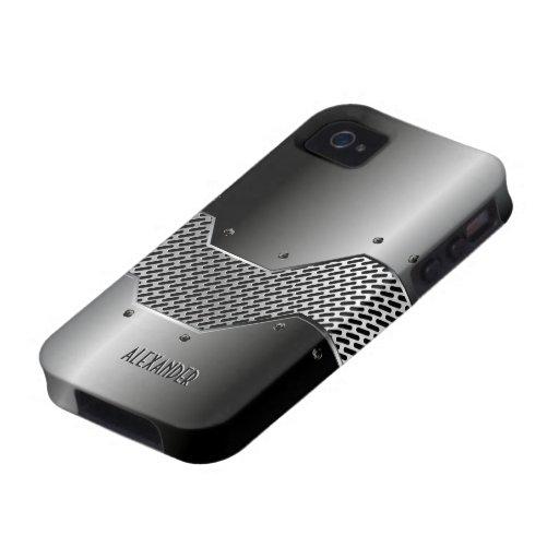 Regard métallique brillant de tons gris-foncé coque iPhone 4/4S