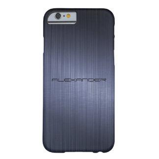 Regard-Monogramme en aluminium balayé bleu-foncé e Coque Barely There iPhone 6