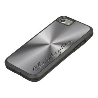 Regard radial métallique personnalisé d'acier coque Case-Mate tough extreme iPhone 8/7