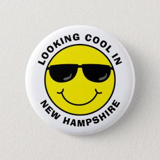 Regard souriant frais dans votre état badge rond 5 cm