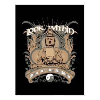 Regardez chez Bouddha Carte Postale