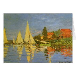 Régate à Argenteuil par Claude Monet Carte De Vœux