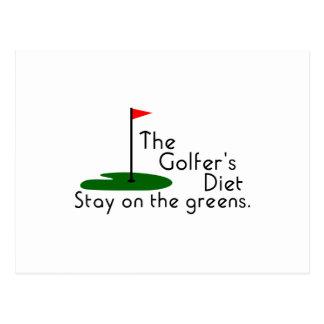 Régime de golfeurs cartes postales