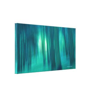 Région boisée contemporaine de bleu de beaux-arts  toiles