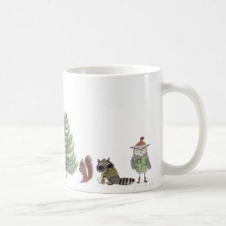 Région boisée d'hiver mug blanc