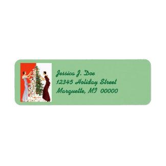 Règlage d'arbre d'art déco décorant des étiquettes