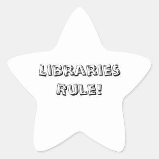 Règle de bibliothèques ! Autocollants