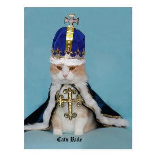 Règle de chats carte postale