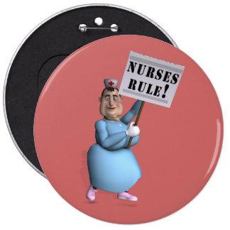 Règle d'infirmières ! badge rond 15,2 cm