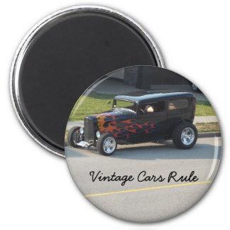 Règle vintage de voitures aimant pour réfrigérateur