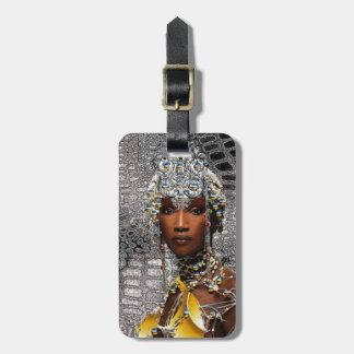 Reine africaine étiquette à bagage