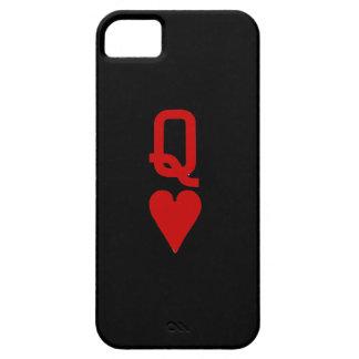 Reine de cas de l'iPhone SE/5/5S de coeurs à peine Coque iPhone 5