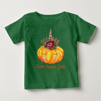Reine de citrouille de licorne avec le T-shirt