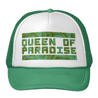 Reine de copie tropicale de paradis casquette