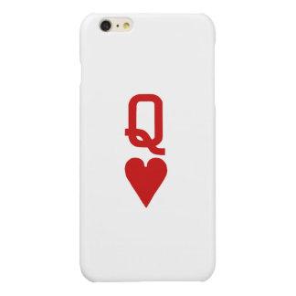 Reine de l'iPhone 6/6S de coeurs plus le cas