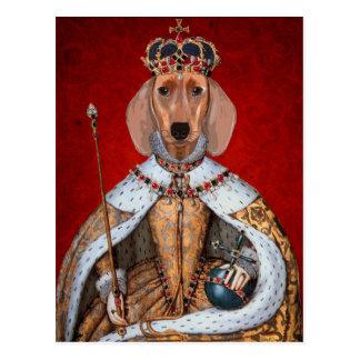 Reine de teckel carte postale