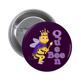 Reine des abeilles drôle badge rond 5 cm