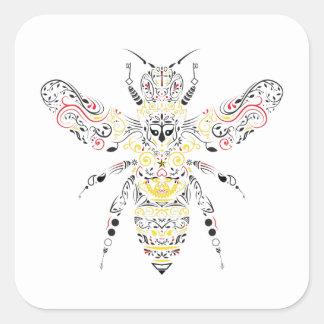 reine des abeilles sticker carré