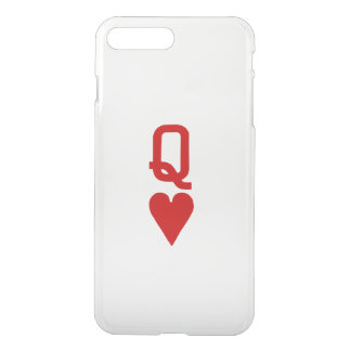 Reine des coeurs iPhone7 plus le cas clair Coque iPhone 8 Plus/7 Plus