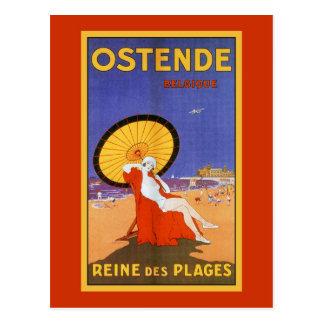 Reine d'Ostende de voyage d'été de beauté des Carte Postale