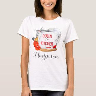 Reine personnalisée de T-shirt du gourmet de