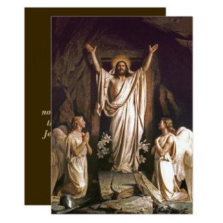Réjouissez-vous. Carte de Pâques personnalisable Carton D'invitation 12,7 Cm X 17,78 Cm