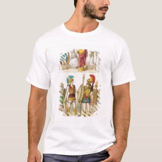 Religieux grecs et les militaires s'habillent t-shirt