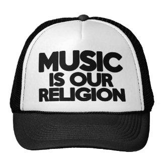 Religion de musique casquette de camionneur