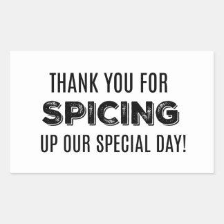 Remerciez le votre d'épicer notre étiquette