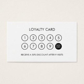 Remise élégante moderne minimaliste de fidélité cartes de visite