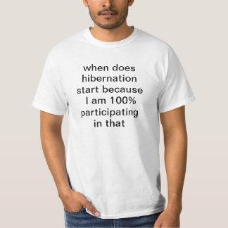 Remise quand fait le début d'hibernation parce t-shirt